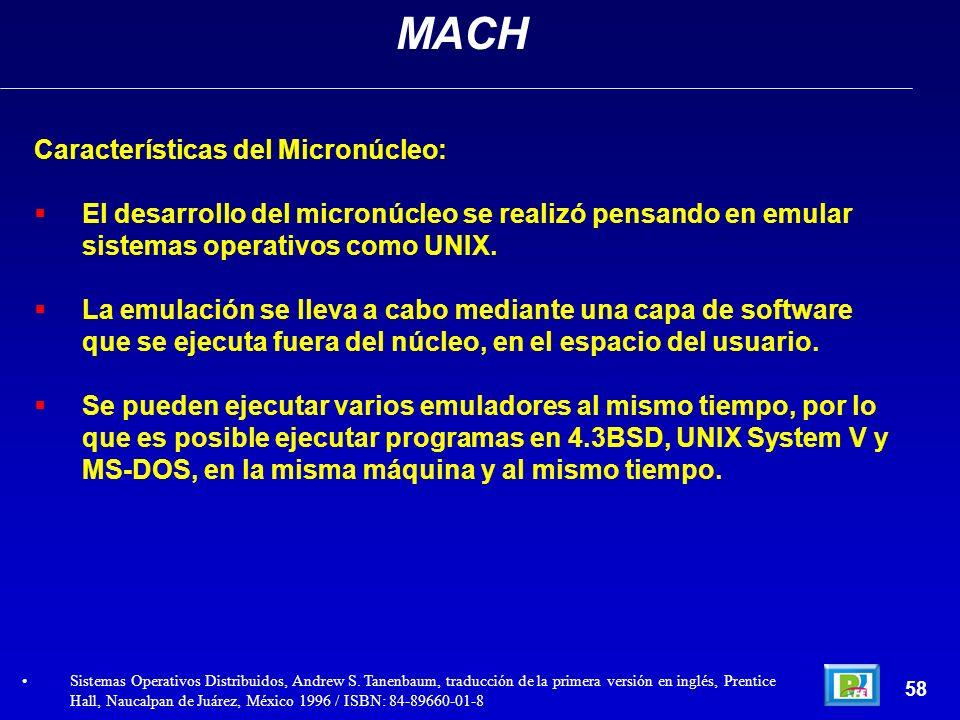 MACH Características del Micronúcleo:
