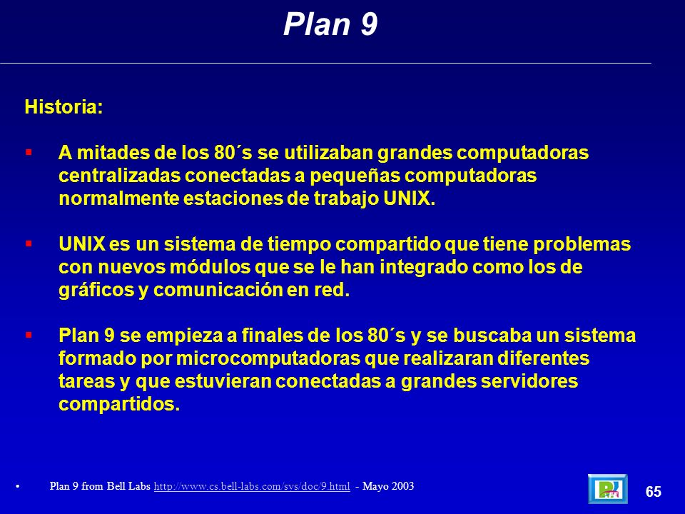 Plan 9 Historia: