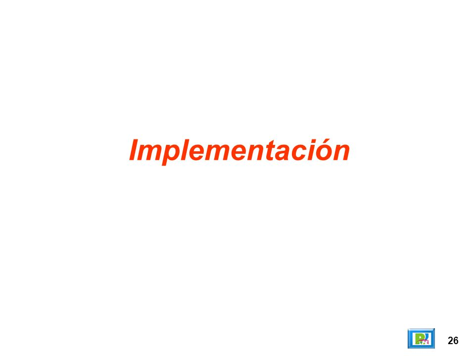 Implementación 26