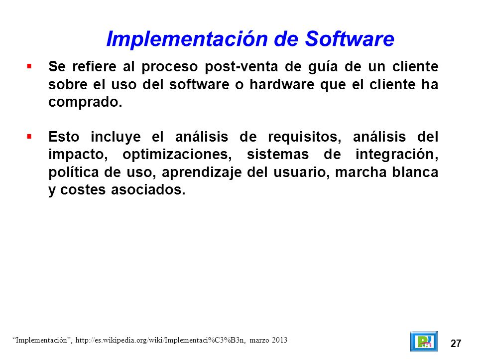 Implementación de Software