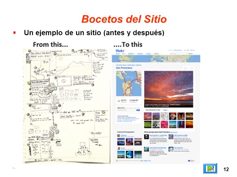 Bocetos del Sitio Un ejemplo de un sitio (antes y después) - . 12