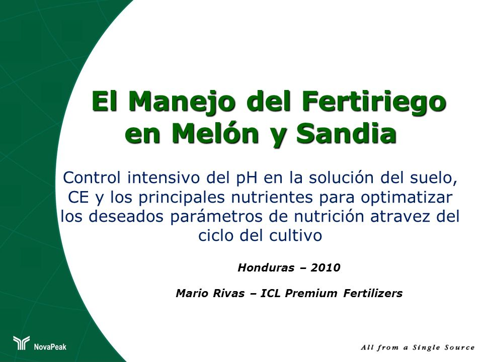 Honduras – 2010 Mario Rivas – ICL Premium Fertilizers