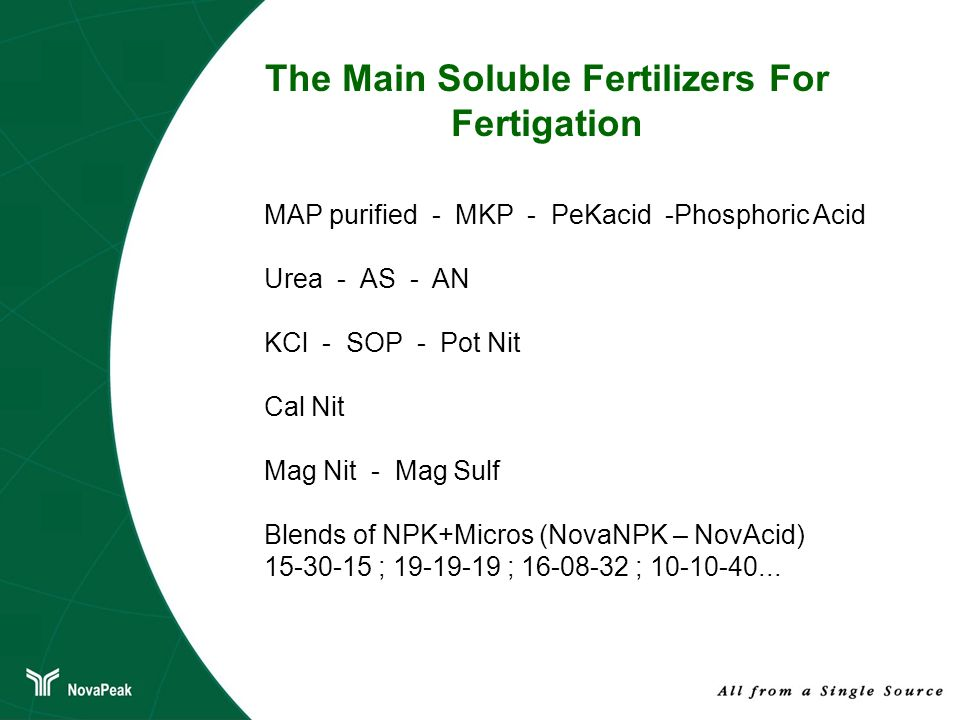 The Main Soluble Fertilizers For Fertigation