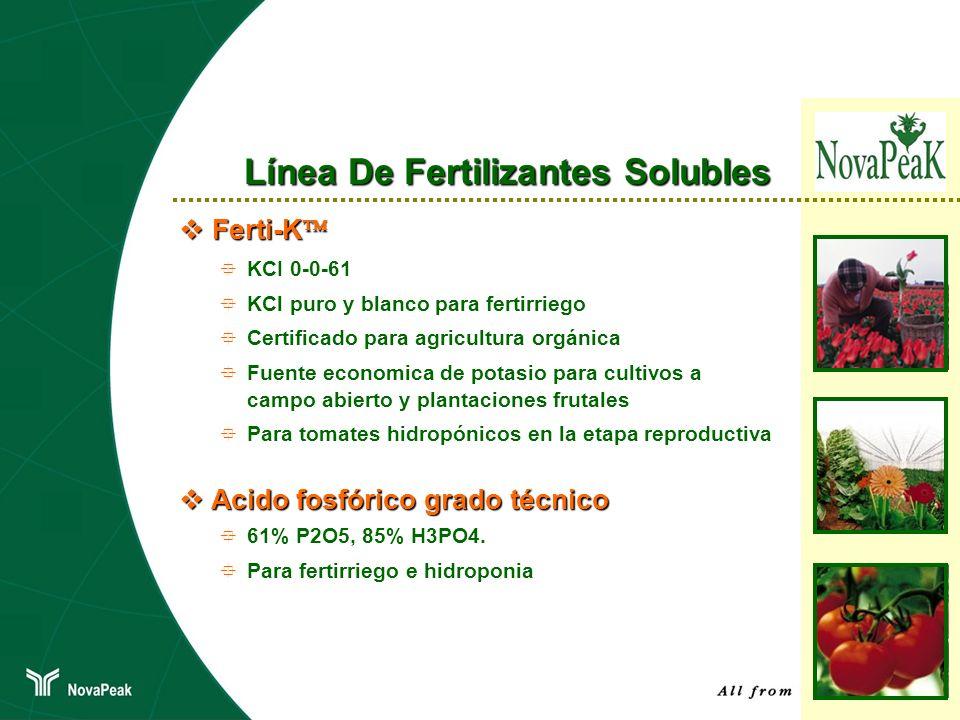 Línea De Fertilizantes Solubles