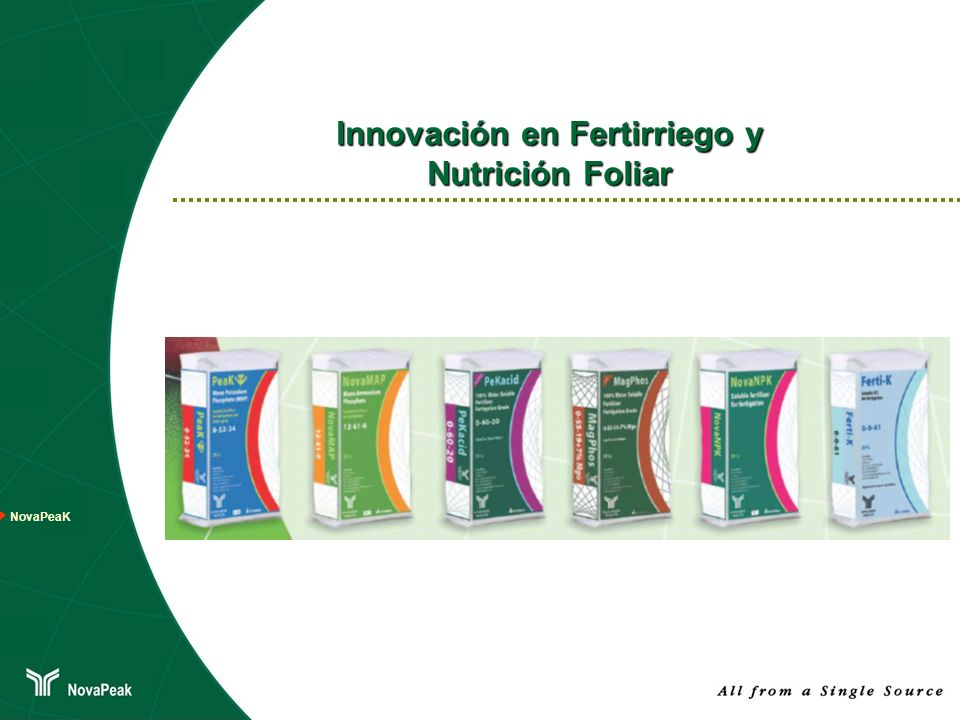 Innovación en Fertirriego y Nutrición Foliar