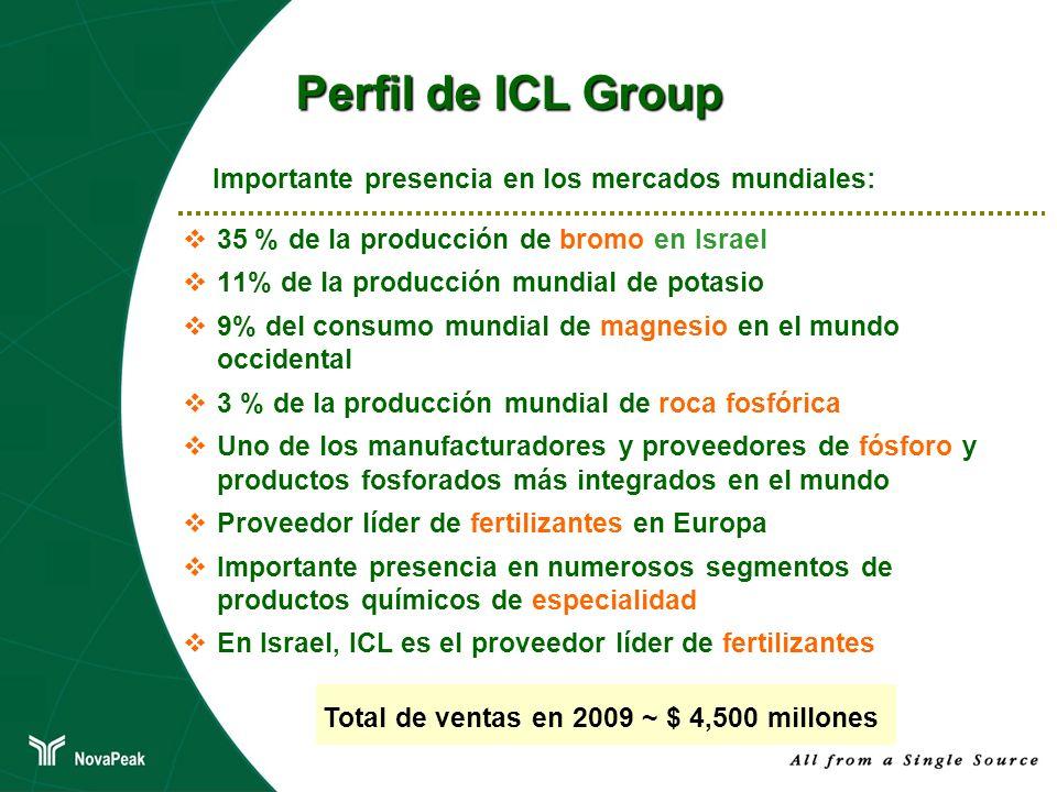 Perfil de ICL Group Importante presencia en los mercados mundiales: