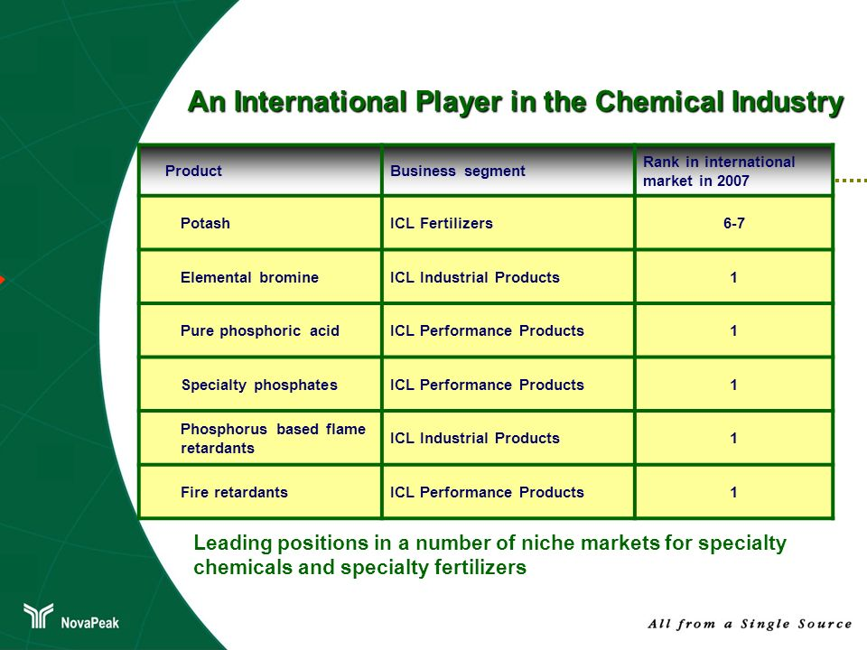 An International Player in the Chemical Industry
