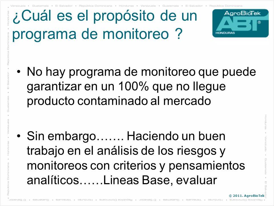 ¿Cuál es el propósito de un programa de monitoreo