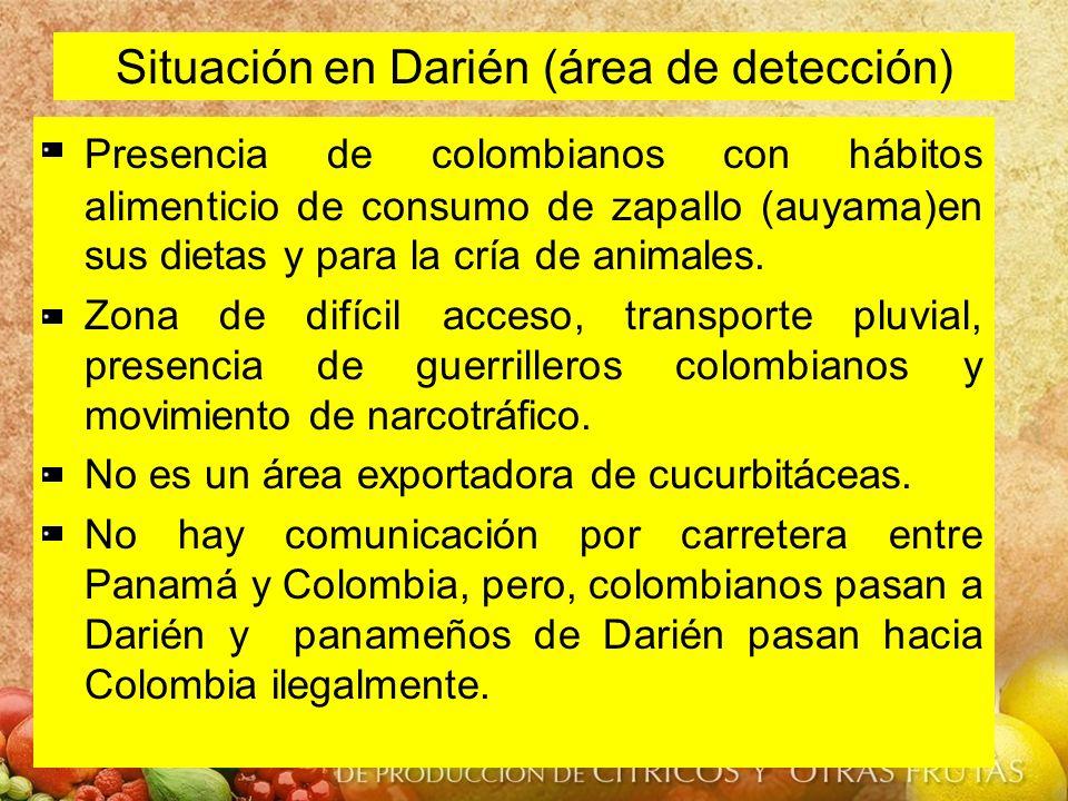 Situación en Darién (área de detección)