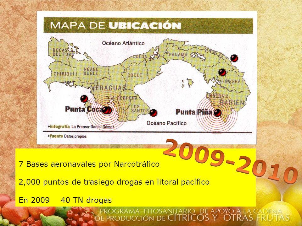 2009-2010 7 Bases aeronavales por Narcotráfico