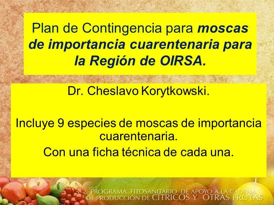 Plan de Contingencia para moscas de importancia cuarentenaria para la Región de OIRSA.