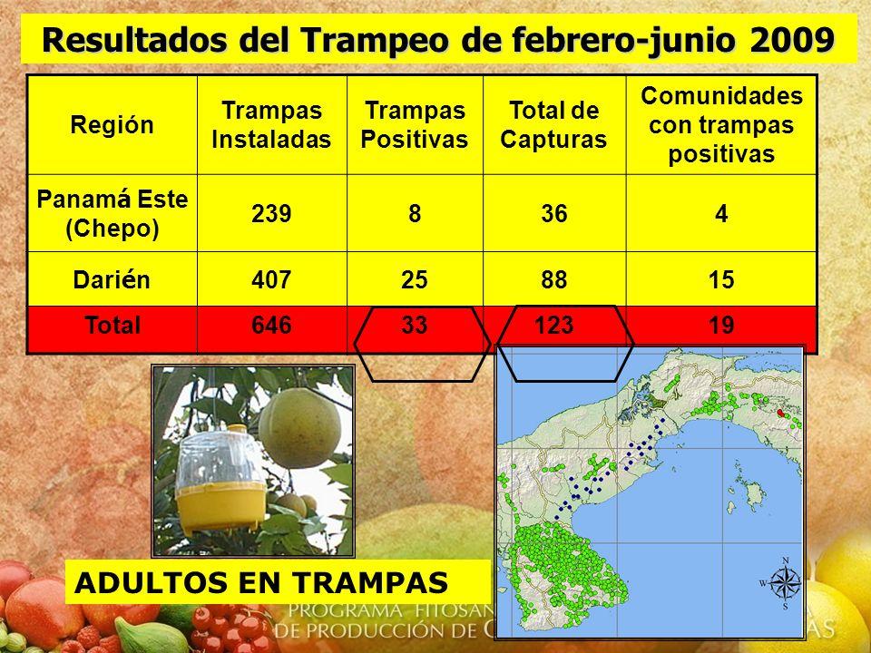 Resultados del Trampeo de febrero-junio 2009