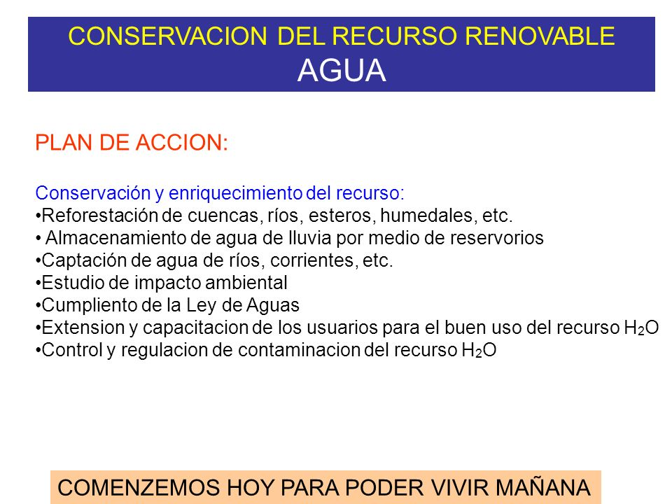 CONSERVACION DEL RECURSO RENOVABLE