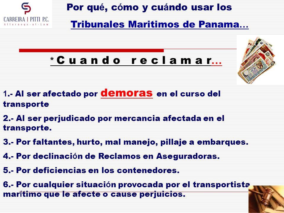 Tribunales Maritimos de Panama…