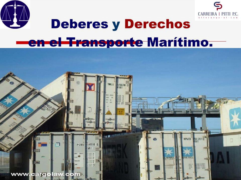 en el Transporte Marítimo.
