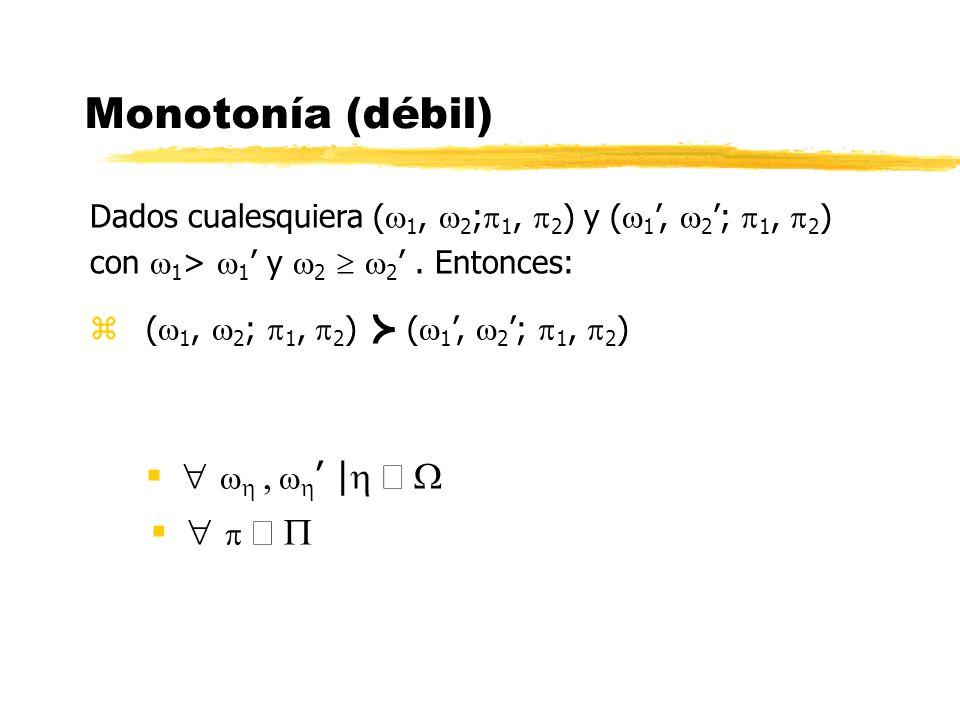 Monotonía (débil)   , ' | Î W   Î P