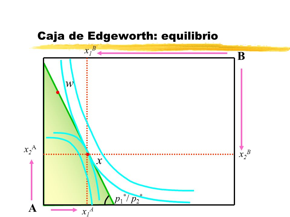 Caja de Edgeworth: equilibrio