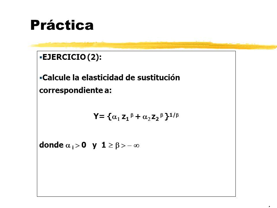 Práctica . EJERCICIO (2):