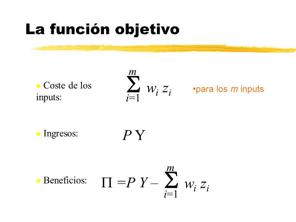 S wi zi S wi zi La función objetivo P Y P =P Y – m i=1 m i=1