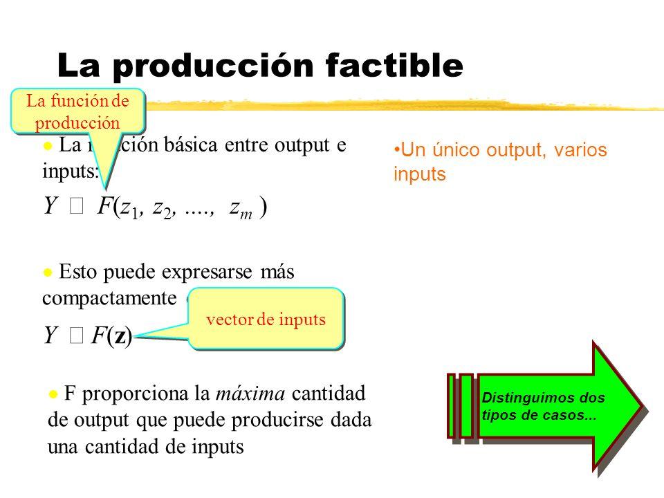 La producción factible