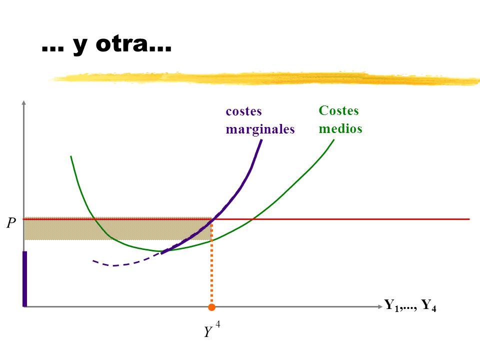 ... y otra... costes marginales Costes medios P Y1,..., Y4 4 Y