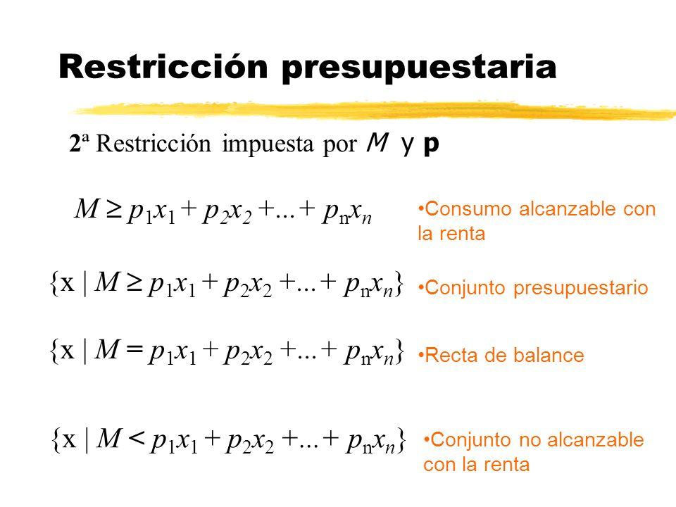 Restricción presupuestaria