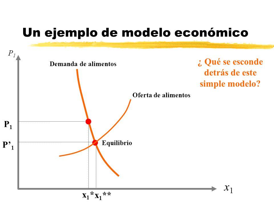 Un ejemplo de modelo económico