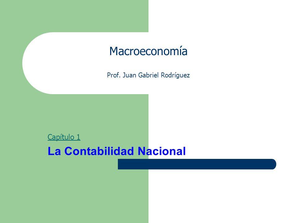 Macroeconomía Prof. Juan Gabriel Rodríguez