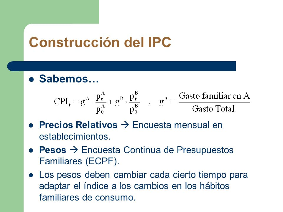 Construcción del IPC Sabemos…