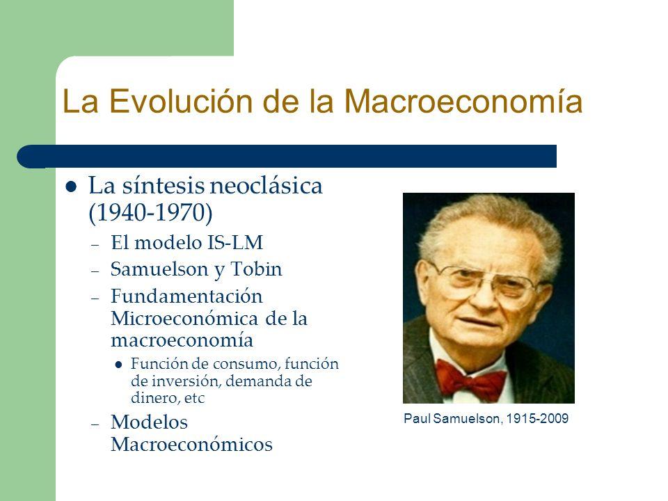 La Evolución de la Macroeconomía