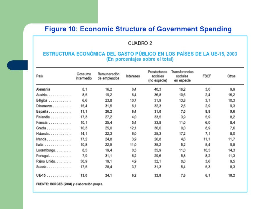Figure 10: Economic Structure of Government Spending