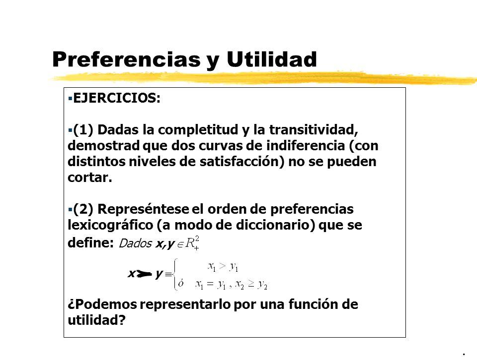 Preferencias y Utilidad