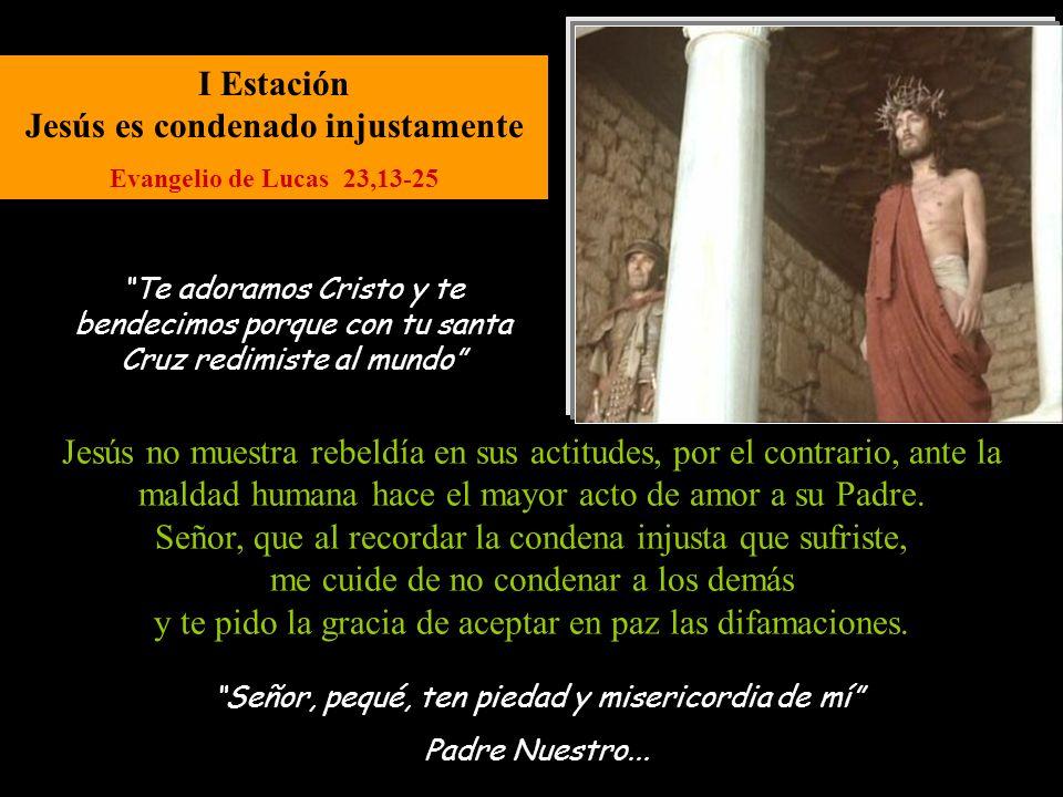 I Estación Jesús es condenado injustamente
