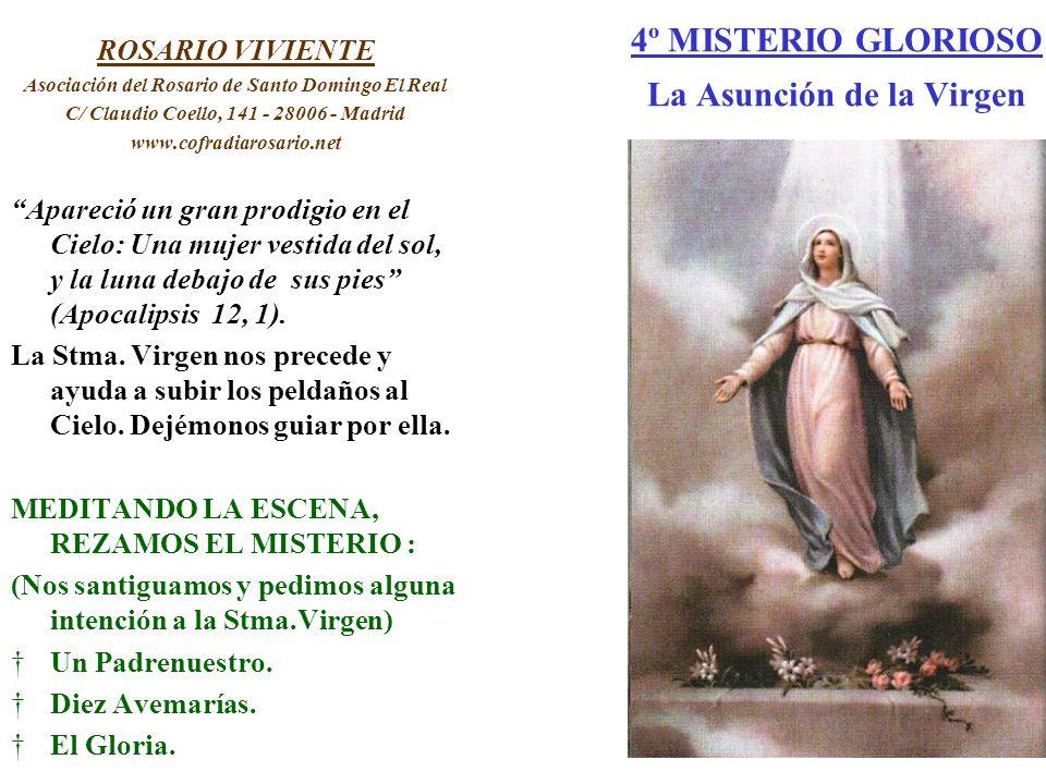 4º MISTERIO GLORIOSO La Asunción de la Virgen