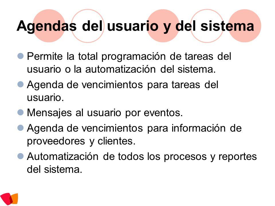 Agendas del usuario y del sistema