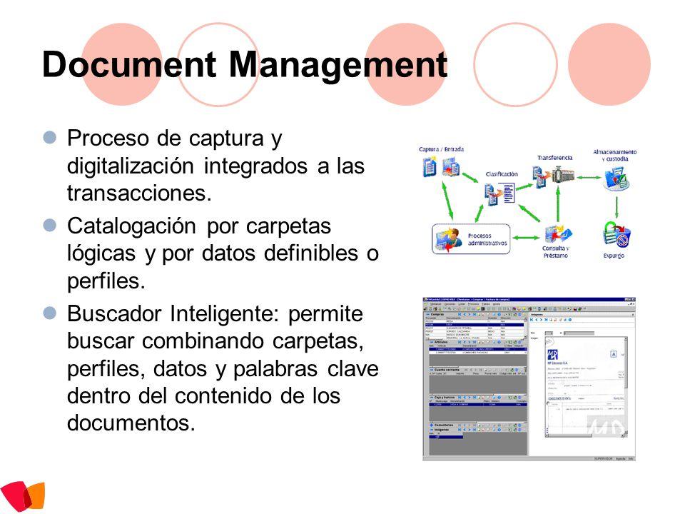 Document ManagementProceso de captura y digitalización integrados a las transacciones.