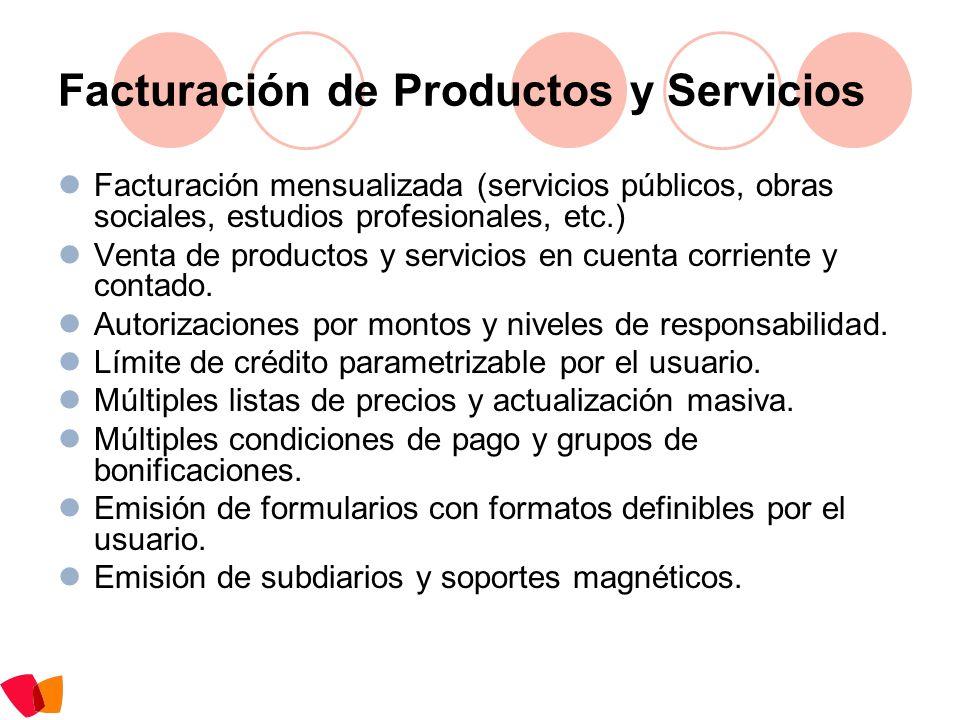 Facturación de Productos y Servicios