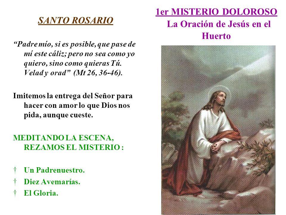1er MISTERIO DOLOROSO La Oración de Jesús en el Huerto