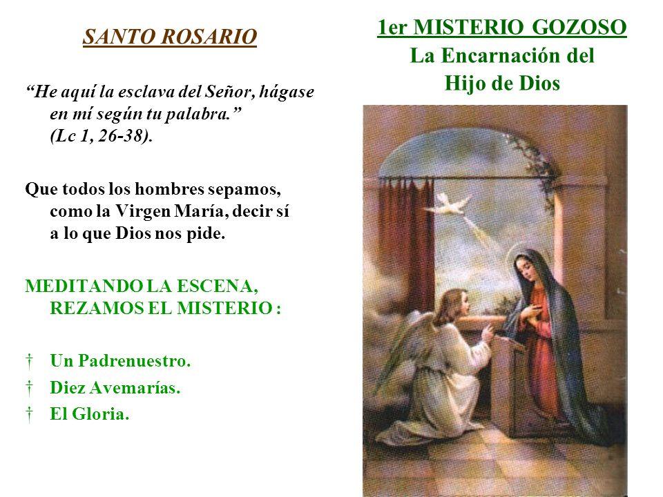 1er MISTERIO GOZOSO La Encarnación del Hijo de Dios