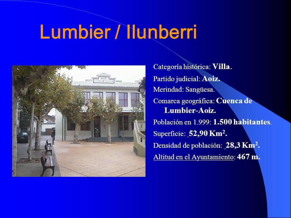 Lumbier / Ilunberri Categoría histórica: Villa.