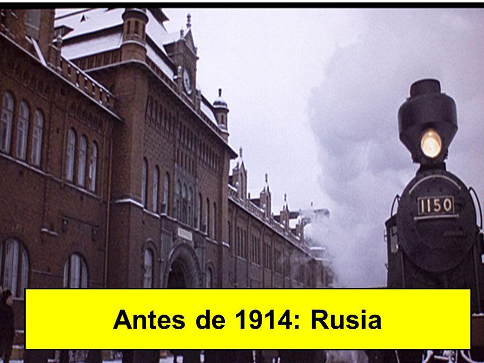 Antes de 1914: Rusia