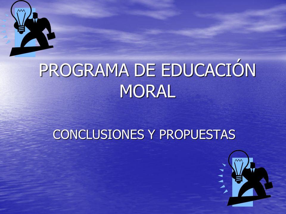 PROGRAMA DE EDUCACIÓN MORAL