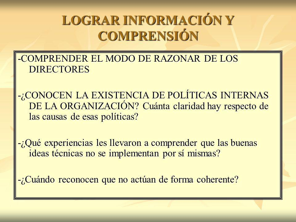 LOGRAR INFORMACIÓN Y COMPRENSIÓN