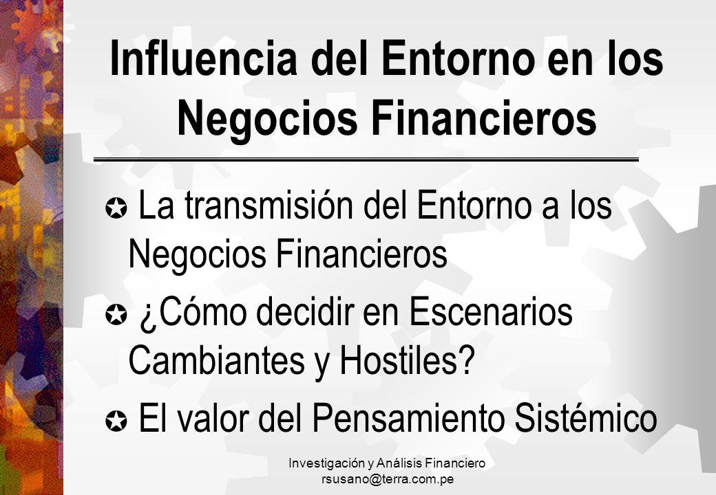 Influencia del Entorno en los Negocios Financieros