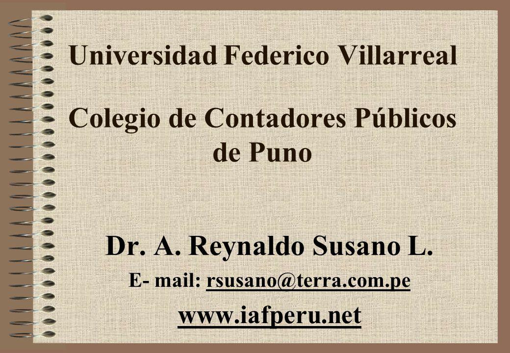Universidad Federico Villarreal Colegio de Contadores Públicos de Puno