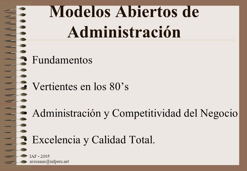 Modelos Abiertos de Administración