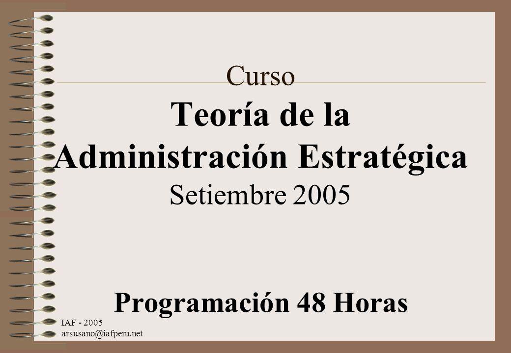 Curso Teoría de la Administración Estratégica Setiembre 2005