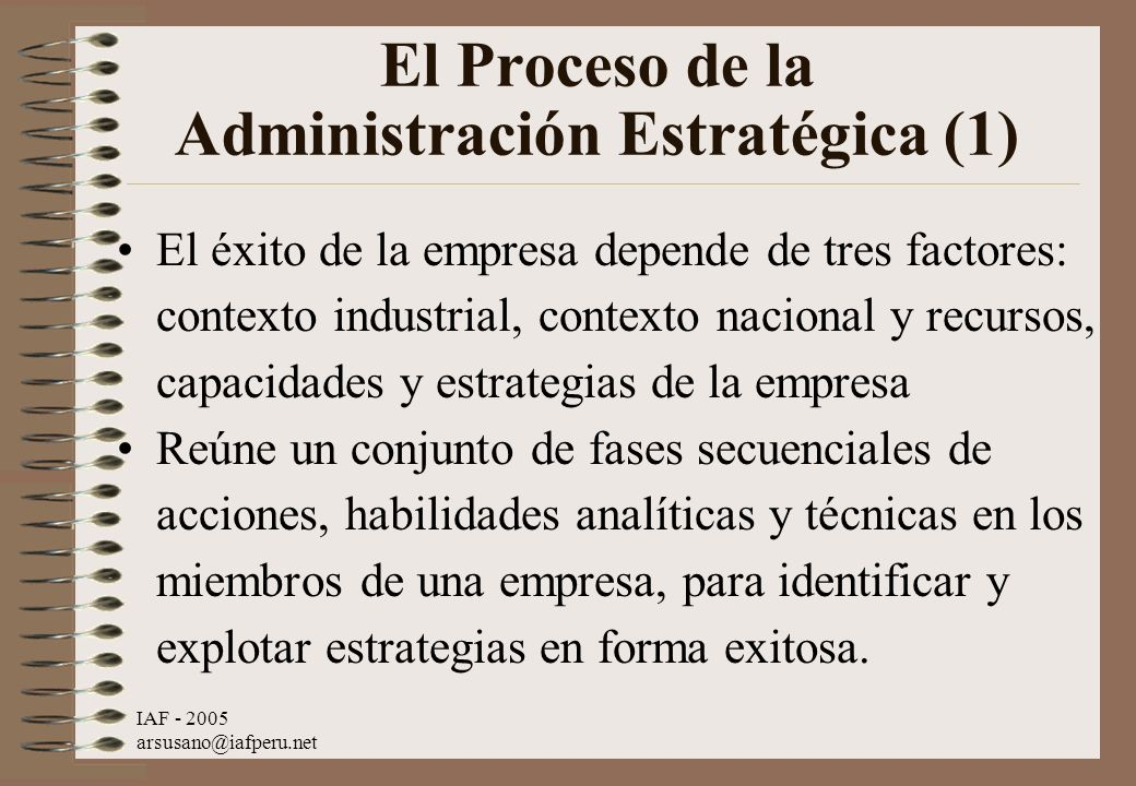 El Proceso de la Administración Estratégica (1)