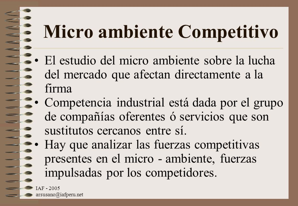 Micro ambiente Competitivo