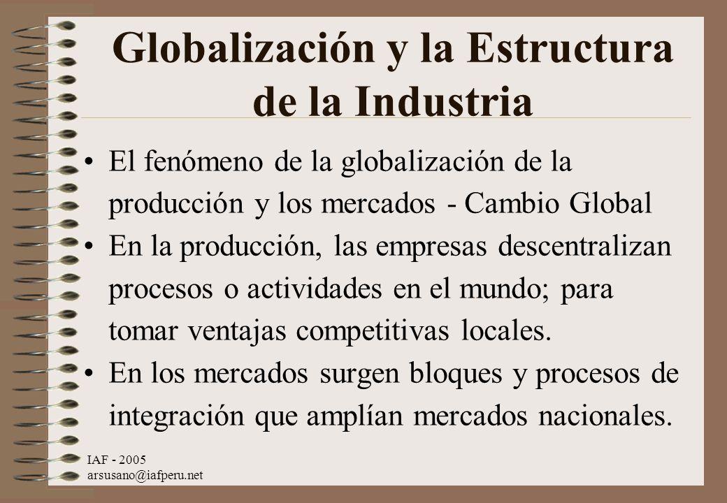 Globalización y la Estructura de la Industria